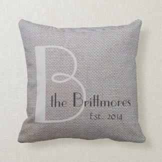 Rustic Chic Pillow, Faux Burlap Weave, Customize Throw Pillow