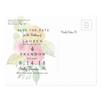 Rustic Chic Save the Date Postcard