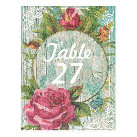 Rustic chic Table number Postcard