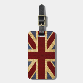 Rustic Chic Union Jack Luggage Tags