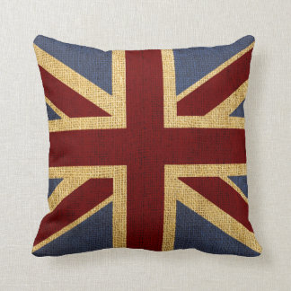 Rustic Chic Union Jack Throw Pillow