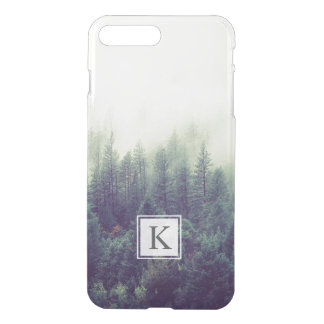 Rustic Chic Winter Forest Pine Trees Monogram Name iPhone 8 Plus/7 Plus Case