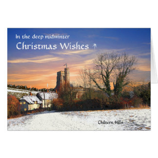 Rustic Chilterns Christmas Card