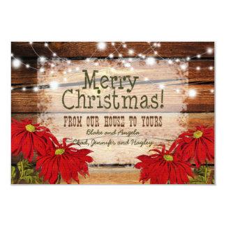 Rustic Christmas Card | Barn Wood and Lights
