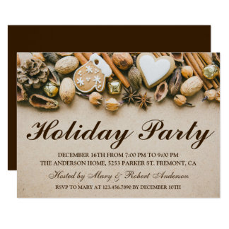 Rustic Christmas Decoration | Holiday Party Invite
