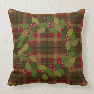 Rustic Christmas | Mix and Match Wreath Throw Pillow