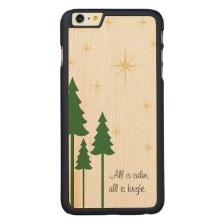 Rustic Christmas Phone Case Template