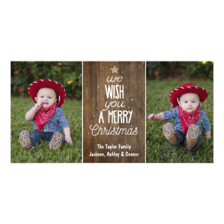 Rustic Christmas photo card - Merry Christmas