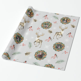 Rustic Christmas Photo Wrapping Paper