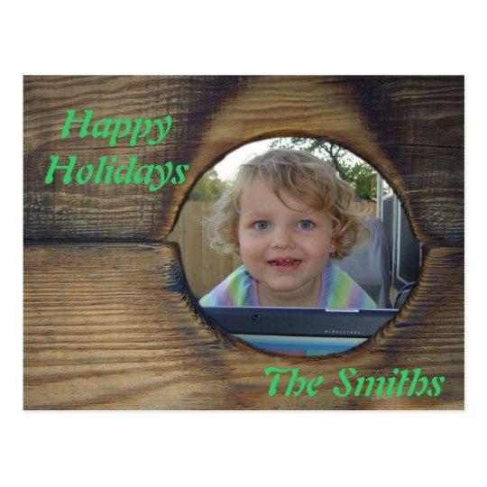 Rustic Christmas Postcard  customize