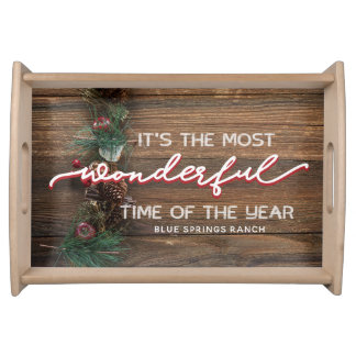 Rustic Christmas Serving Tray