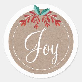 Rustic Christmas Sticker - Joy