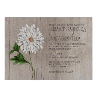 Rustic Chrysanthemum Wedding Invitations