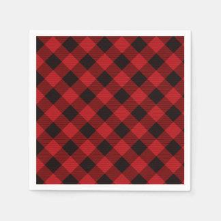 Rustic classic red plaid napkin