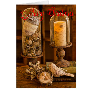 Rustic Cloche Christmas Card