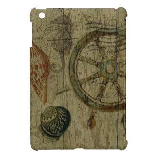 Rustic Coastal Driftwood Nautical Helm Wheel Case For The iPad Mini
