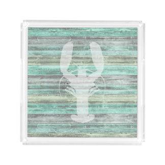 Rustic Coastal Lobster Acrylic Tray