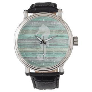 Rustic Coastal Seahorse Watches