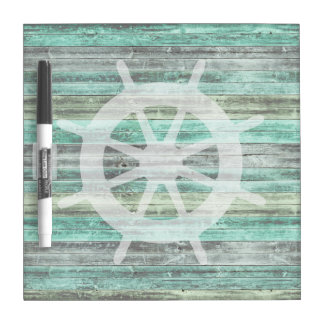 Rustic Coastal Ship Helm Dry-Erase Whiteboards
