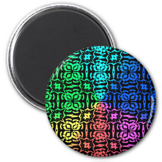 Rustic Colorful Pattern and shapes Magnet