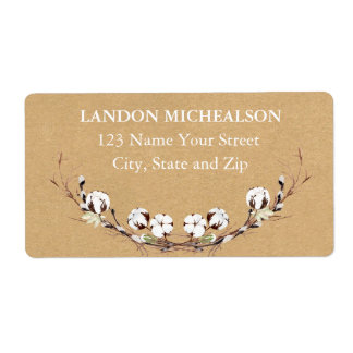 Rustic Cotton Address Labels