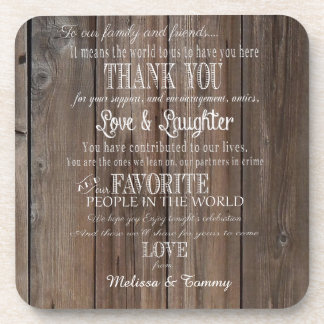 Rustic Country Barn  favors Thank you coaster
