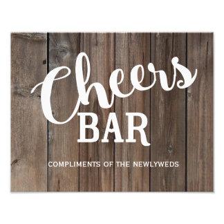 Rustic Country Barn wedding Bar sign