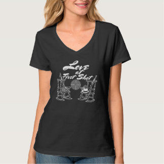 Rustic Country Barn Wedding Party Hunting Couple T-Shirt