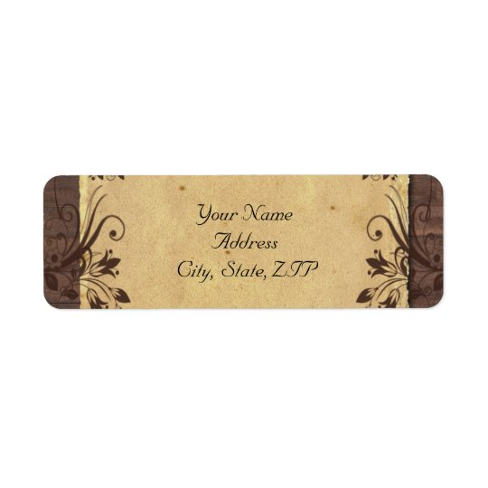 Rustic Country Barn Wood Beauty Return Address Label