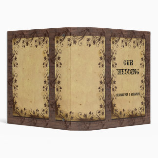 Rustic Country Barn Wood Beauty Wedding Album Vinyl Binders