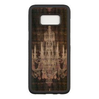 Rustic Country barn wood grain vintage chandelier Carved Samsung Galaxy S8 Case