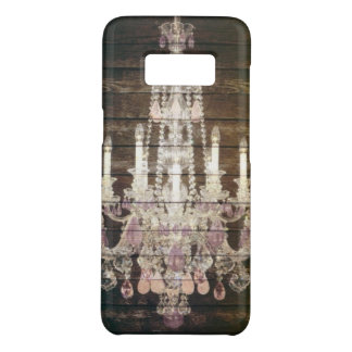 Rustic Country barn wood grain vintage chandelier Case-Mate Samsung Galaxy S8 Case