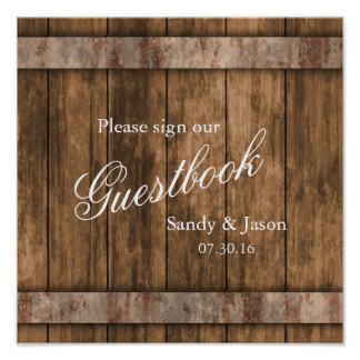 Rustic Country Barn Wood Guestbook