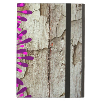 Rustic Country Barn Wood Pink Purple Flowers Case For iPad Air