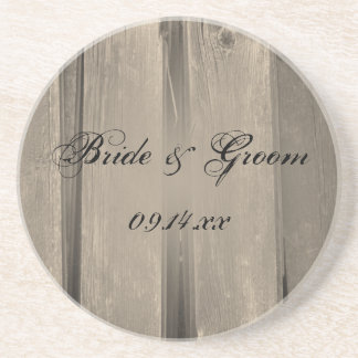 Rustic Country Barn Wood Wedding Coaster