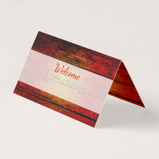 Rustic Country Barn Wood Wedding Event Place Card