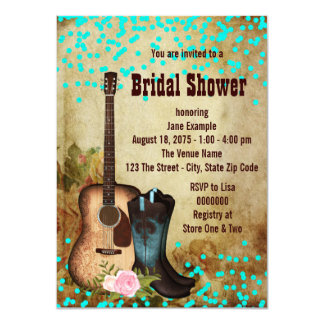 Rustic Country Bridal Shower Invites
