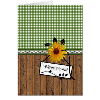 Rustic Country Charm Sunflower Moving Announcement