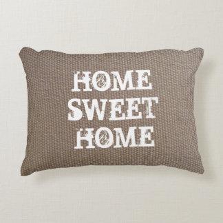 Rustic country chic burlap texture decor pillow