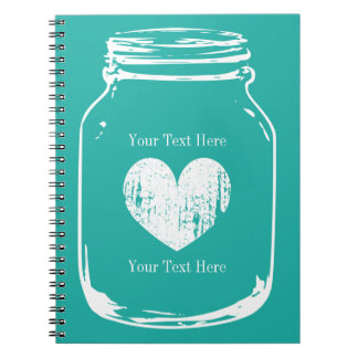 Rustic country chic mason jar notebook journal