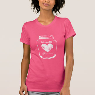 Rustic country chic mason jar t shirt for wedding
