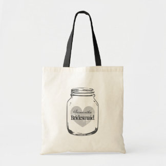 Rustic country chic wedding bridesmaid tote bags