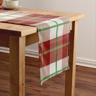 Rustic Country Christmas Holiday Tartan Plaid Short Table Runner