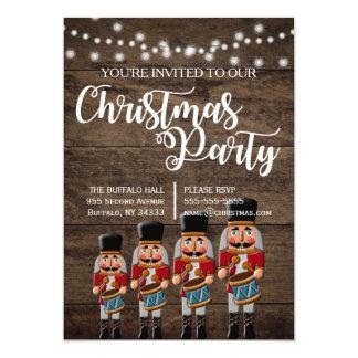Rustic Country Christmas Nutcracker Invitation