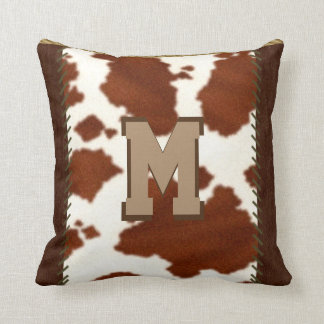Rustic Country Cowhide Pillow