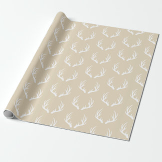Rustic Country Deer Antlers Wrapping Paper