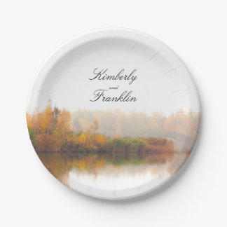 Rustic Country Fall Wedding Paper Plate