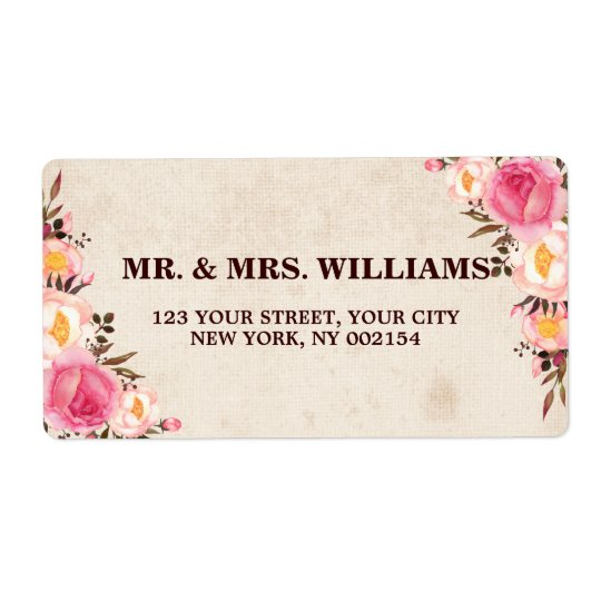 Rustic Country Floral Return Address Label