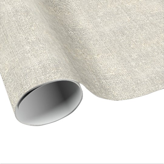 rustic country grey burlap wrapping paper