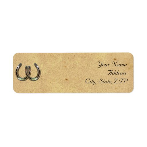 Rustic Country Horseshoe and Barbed Wire Custom Return Address Label